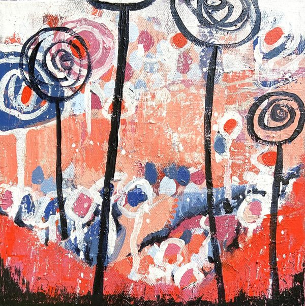 Floral1099 - Cam Pietralunga Abstract Painting